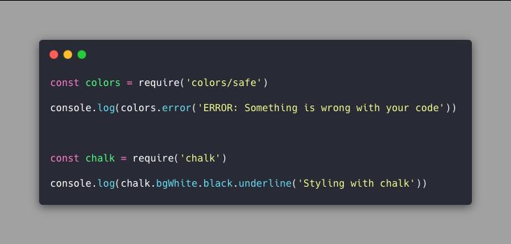 colorize terminal output